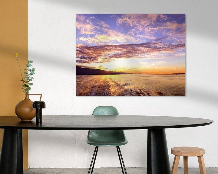 Impression: Sonnenaufgang British Columbia sur Louise Poortvliet