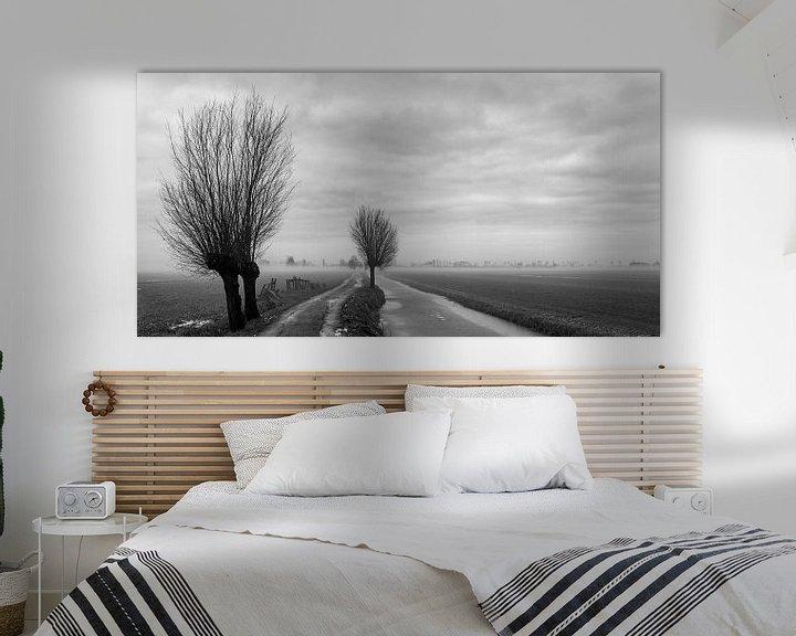 Sfeerimpressie: Mist in de polder van Ton de Koning
