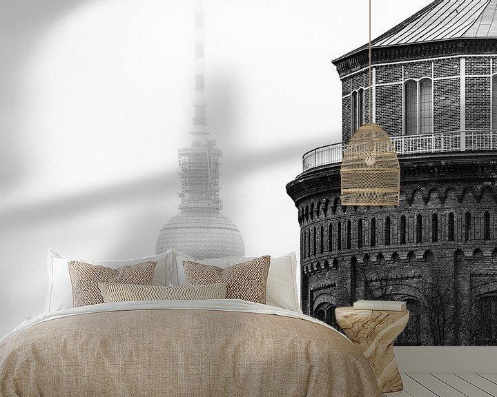 Sfeerimpressie behang: Berlijn in de mist van Ton de Koning