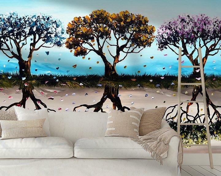 Sfeerimpressie behang: Seasons  van Gena Theheartofart