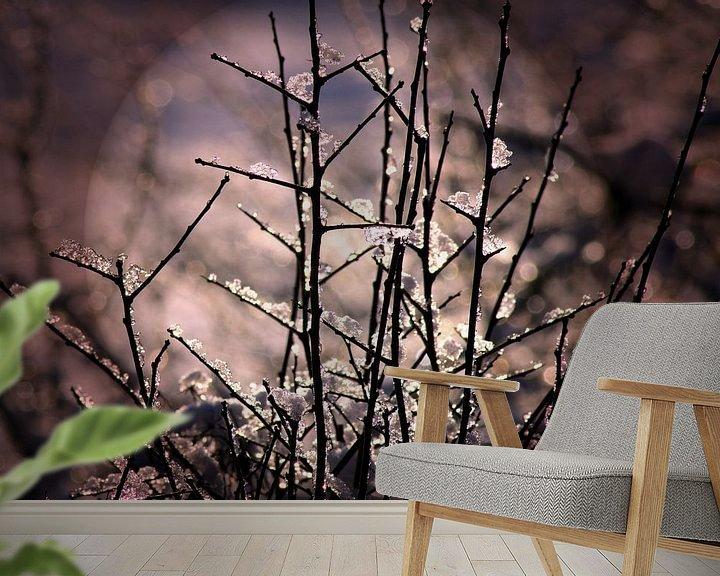 Sfeerimpressie behang: Winter glitter van Vera Laake