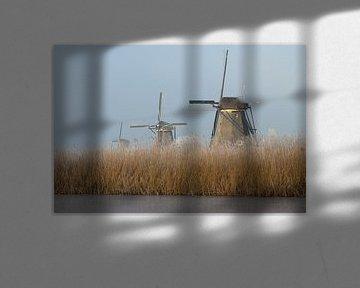 Molens bij Kinderdijk van Bert van Wijk