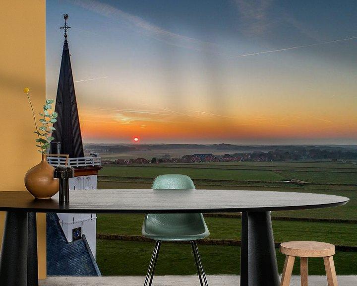 Sfeerimpressie behang: Kerk Den Hoorn - Texel van Texel360Fotografie Richard Heerschap