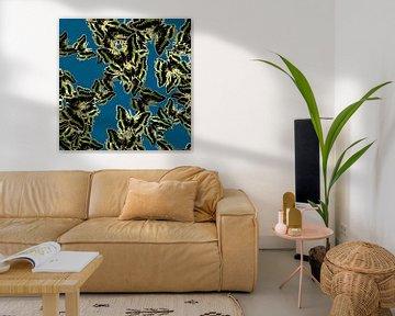 GRAFISCHE PRINT VLINDERS 4 von Marijke Mulder