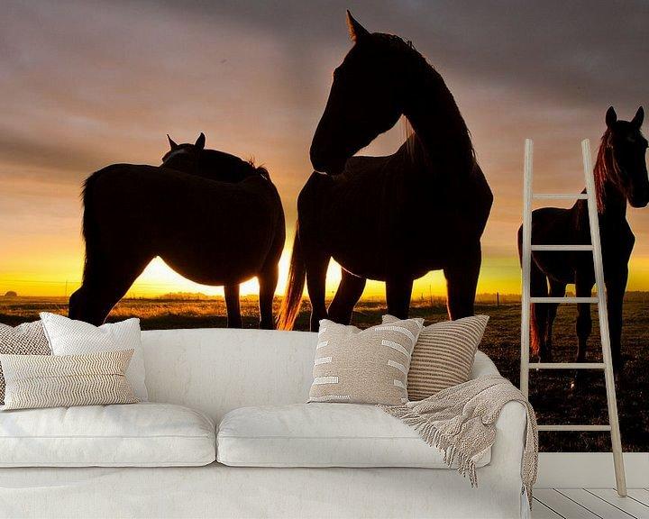 Sfeerimpressie behang: Horses van Anne Koop