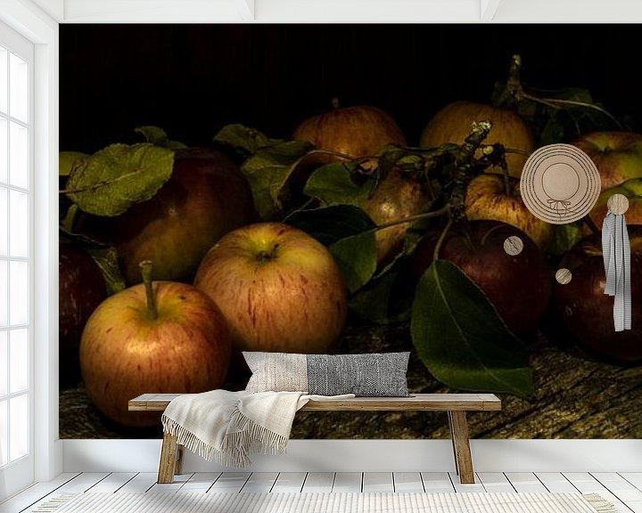 Sfeerimpressie behang: appels van arjan doornbos