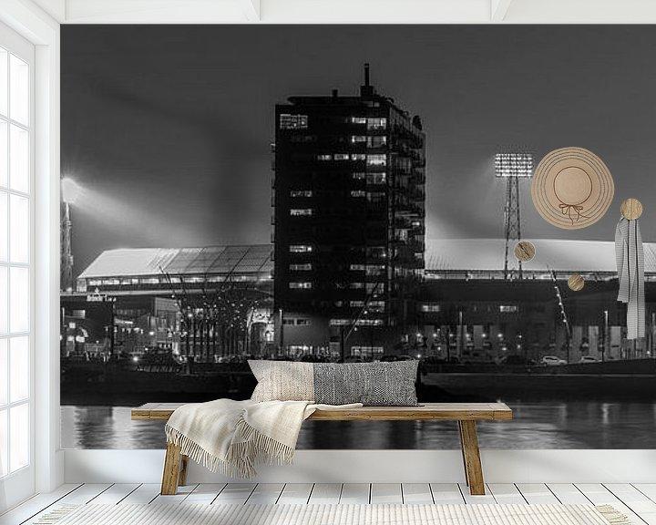"""Sfeerimpressie behang: Feyenoord Stadion """"De Kuip"""" 2017 in Rotterdam (formaat 3/1) van MS Fotografie   Marc van der Stelt"""