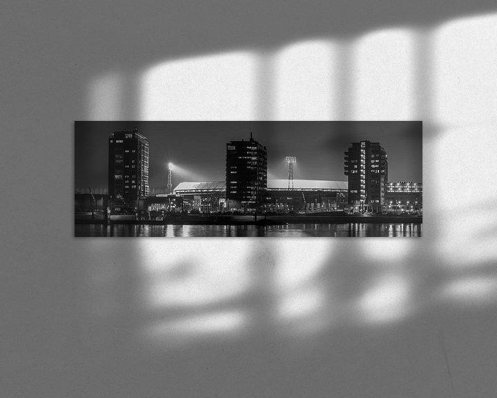"""Sfeerimpressie: Feyenoord Stadion """"De Kuip"""" 2017 in Rotterdam (formaat 3/1) van MS Fotografie   Marc van der Stelt"""