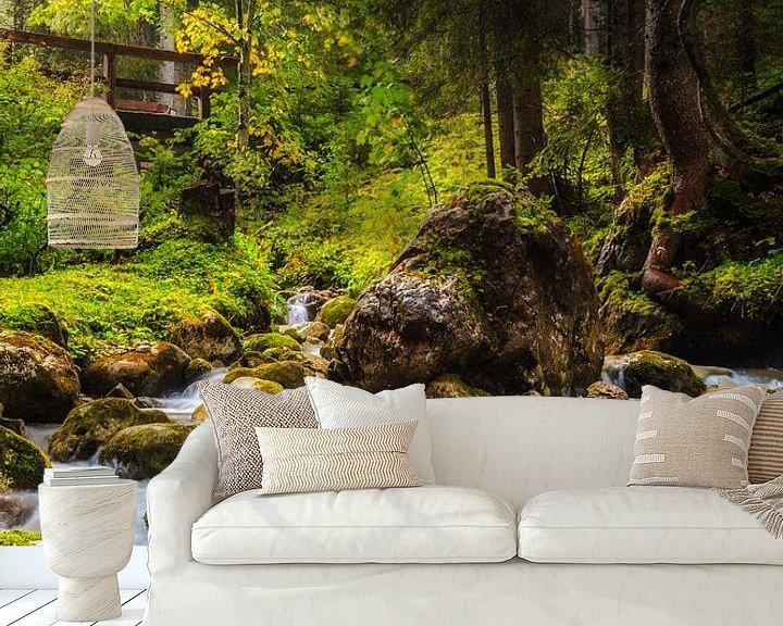 Sfeerimpressie behang: Beek in het Bos van Coen Weesjes