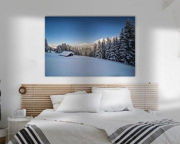 Winterlandschaft in den Bergen sur Coen Weesjes