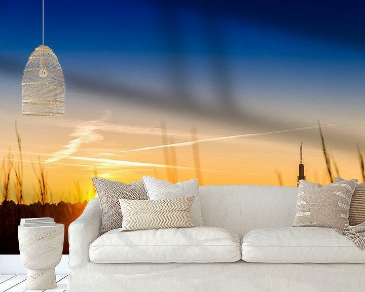 Sfeerimpressie behang: Zonsondergang op de Westerheide van Ralph vdL