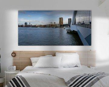 Skyline Rotterdam - Erasmusbrug von Willem van den Berge