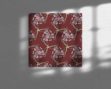 GRAFISCHE PRINT MOTIEF KERSENBLOESEM 1 van Marijke Mulder