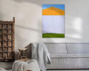 Oranje wit groen huis symmetrie