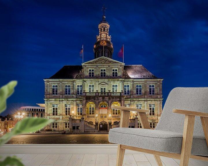 Sfeerimpressie behang: Stadhuis Maastricht van Bert Beckers