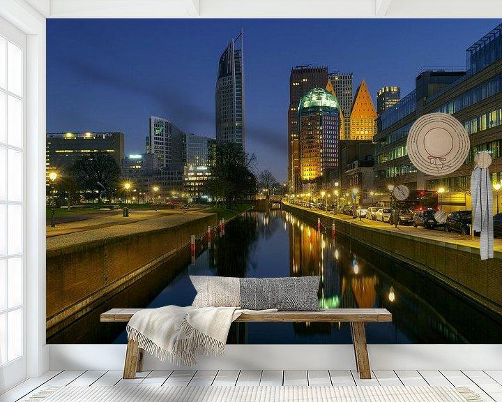 Sfeerimpressie behang: Den Haag: De andere skyline van Erik Brons