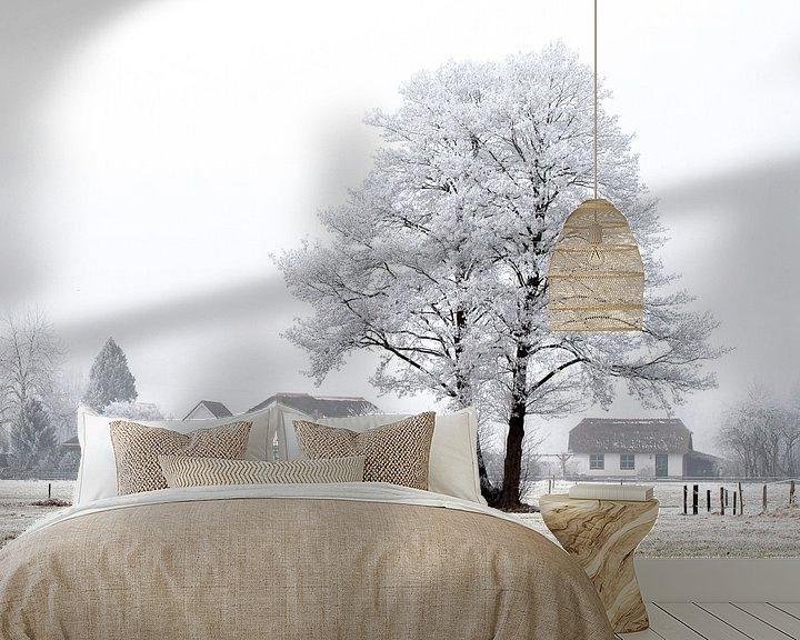 Sfeerimpressie behang: Winter wonderland van Robbie Veldwijk
