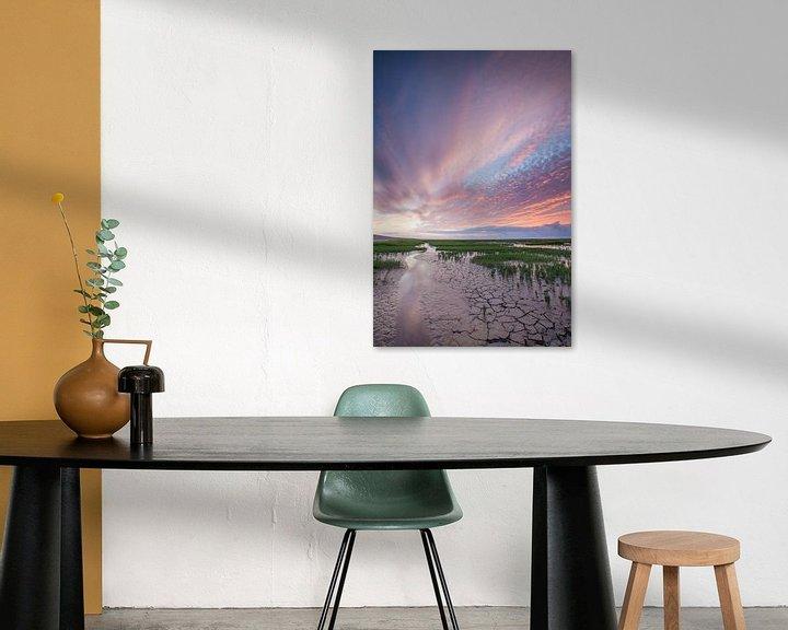 Impression: Zonsondergang op het wad sur Ron Buist
