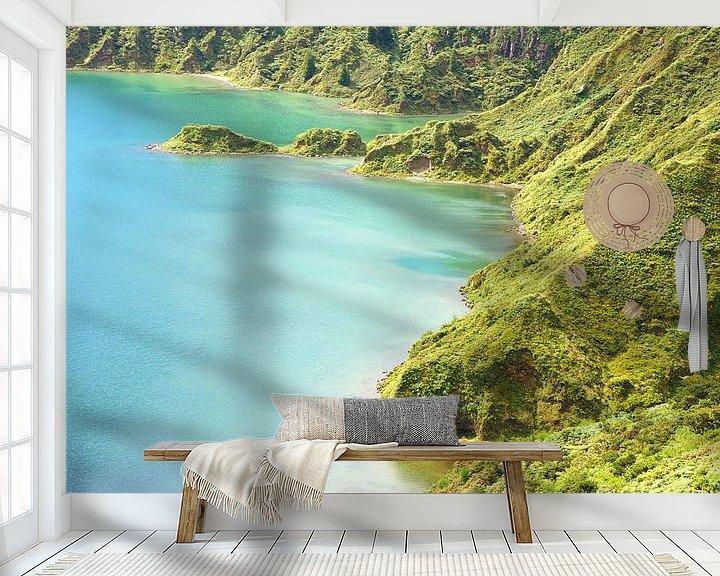 Impression: Blauer grüner Vulkankrater sur Jan Brons