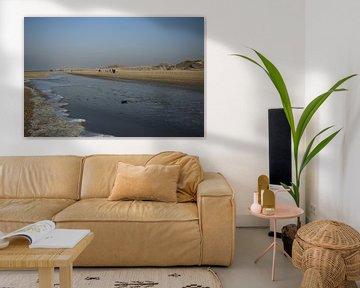 Strand in de winter in Nederland van Cora Unk