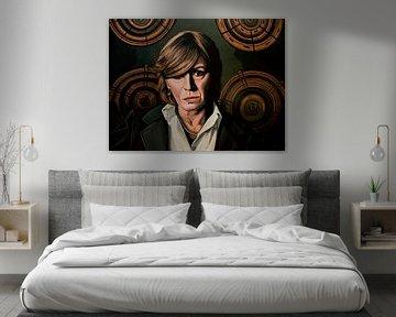 Marianne Faithfull Schilderij van Paul Meijering