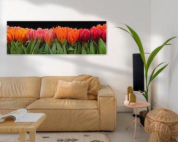 Schilderij van tulpen  digital Art