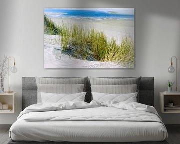 Strand en duinen Ameland van Sanneke Kortbeek