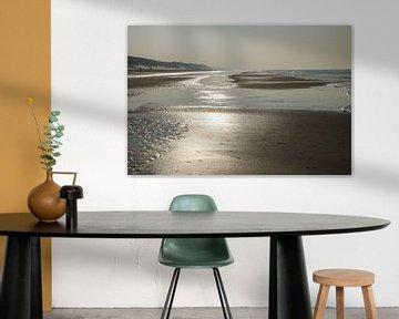 Laagwater op het Noordzee strand van Cora Unk