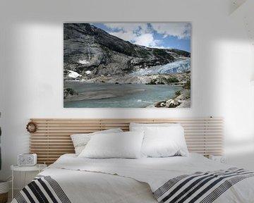 Gletscher mit Schmelzwasser von Kvinne Fotografie