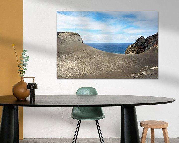 Impression: Lava Landschaft Blick auf das Meer sur Jan Brons