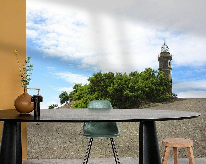 Impression: Lava Landschaft Leuchtturm sur Jan Brons