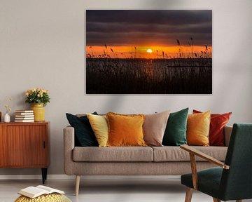 Zonsondergang boven het Gooimeer