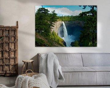 Waterval in het park Gray Wells Canada van Ineke Huizing
