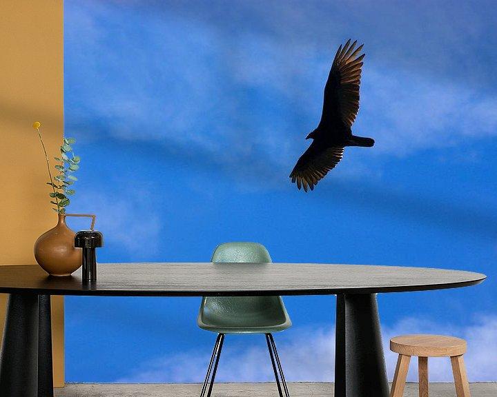 Sfeerimpressie behang: Kalkoengier in Victoria Texas van Atelier Liesjes