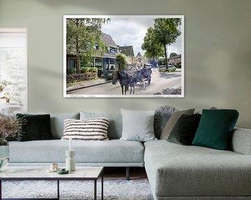 Magdaleenweeg / Zeeweg in Huizen (oud & nieuw serie) von Vincent Snoek