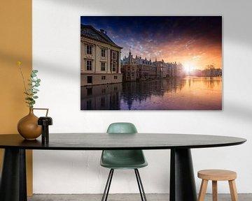 zonsondergang langs de Haagse Hofvijver van gaps photography
