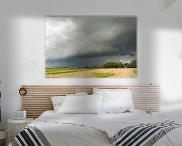 Rolwolk boven de Schermer van Ellen van Schravendijk