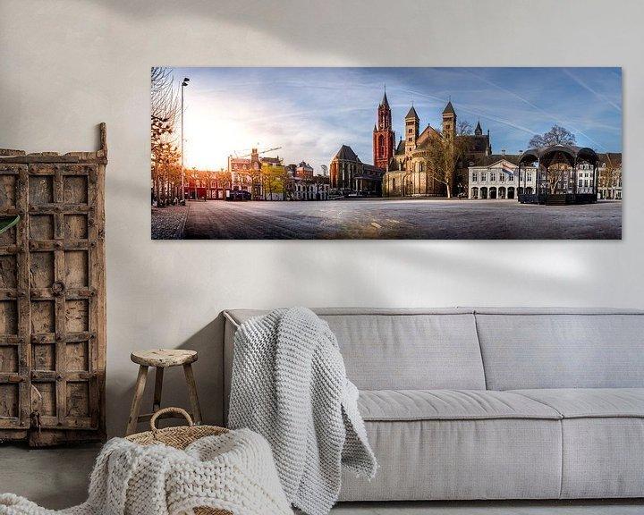 Sfeerimpressie: Panorama van het vrijthof in Maastricht van Geert Bollen