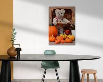 Misses Bear and Her Pumpkins