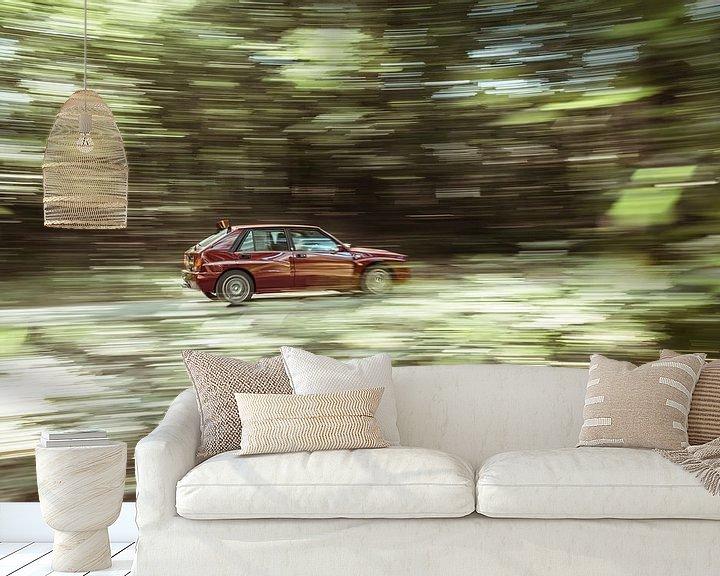 Beispiel fototapete: Lancia Delta Integrale Evo 2 Final Edition At speed von Sytse Dijkstra