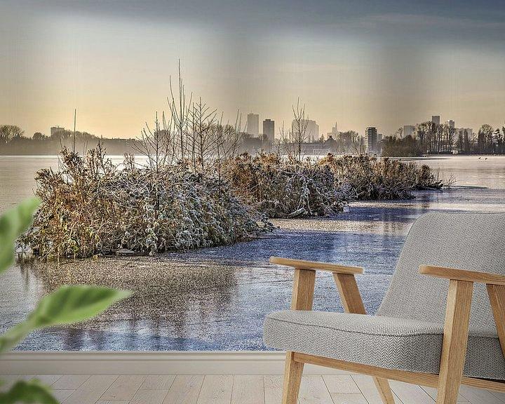 Sfeerimpressie behang: Winterse archipel van Frans Blok
