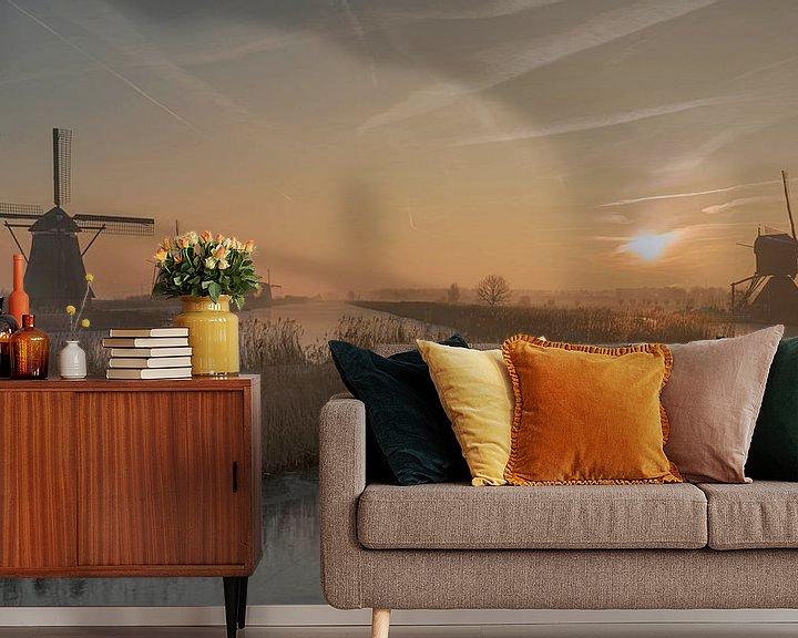 Sfeerimpressie behang: De eerste zonnestralen van Raoul Baart