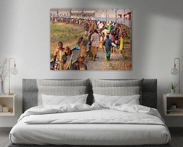 'Langs het spoor', Tanzania van Martine Joanne