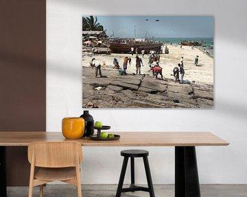'Visafslag', Dar es Salaam- Tanzania van Martine Joanne