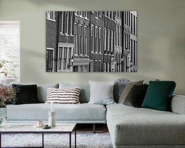 Gevels van panden aan de gracht in Amsterdam von Pieter Geevers