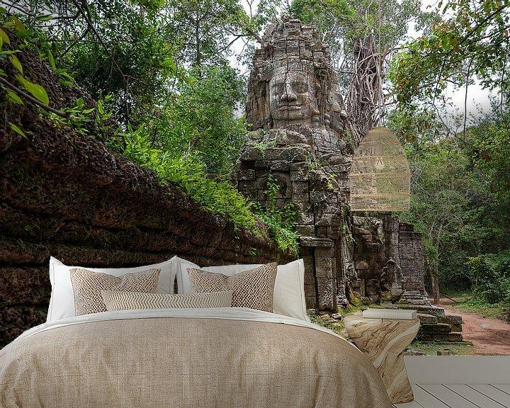 Sfeerimpressie behang: Ta Prohm, Angkor Wat van Richard van der Woude