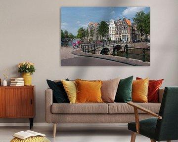 Zicht op de Keizersgracht Amsterdam van Foto Amsterdam / Peter Bartelings