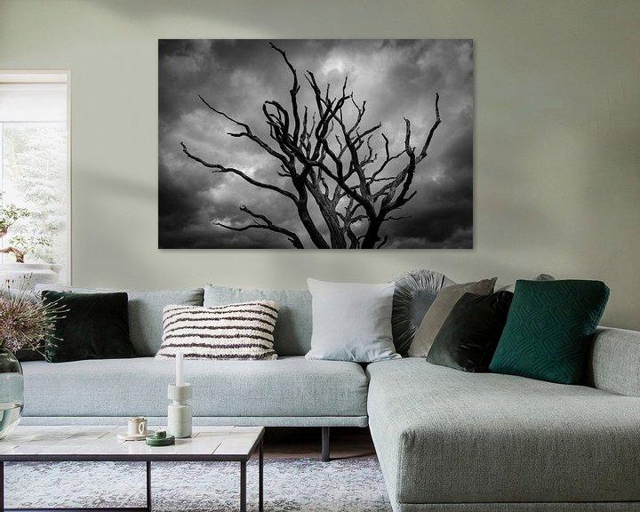 Beispiel: Toter Baum vor dunklen Wolken von Atelier Liesjes