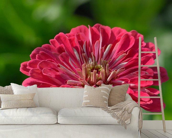 Sfeerimpressie behang: Close-up van een bloem van Atelier Liesjes