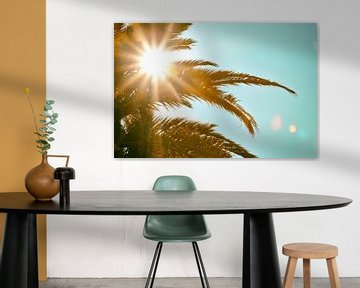 Tropische zon palmboom van Jan Brons